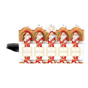 Lindt Santa Milk 5 Pack Perforation 50g